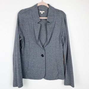 Caslon Heathered Gray One Button Blazer XL